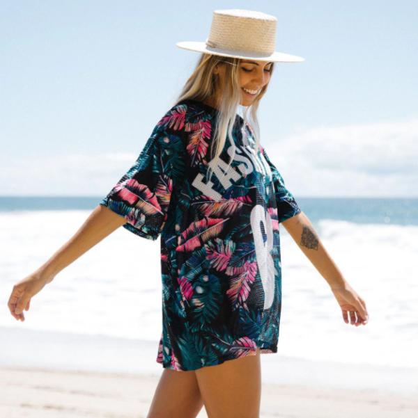 Short Sleeve Beach Cover-ups